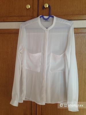 Блуза белая PULL&BEAR. L