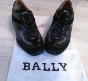 Спортивные ботинки BALLY, черные, кожа, р-р 39-40
