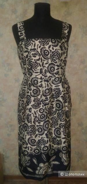 Шёлковое платье max mara р. 44
