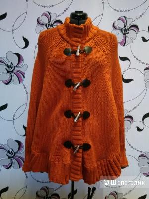 Пончо Michael Kors, цвет темный оранж, размер L, рус 46-52