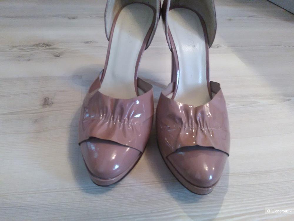 Туфли ALBA, пудрового цвета, лаковая кожа, размер 38