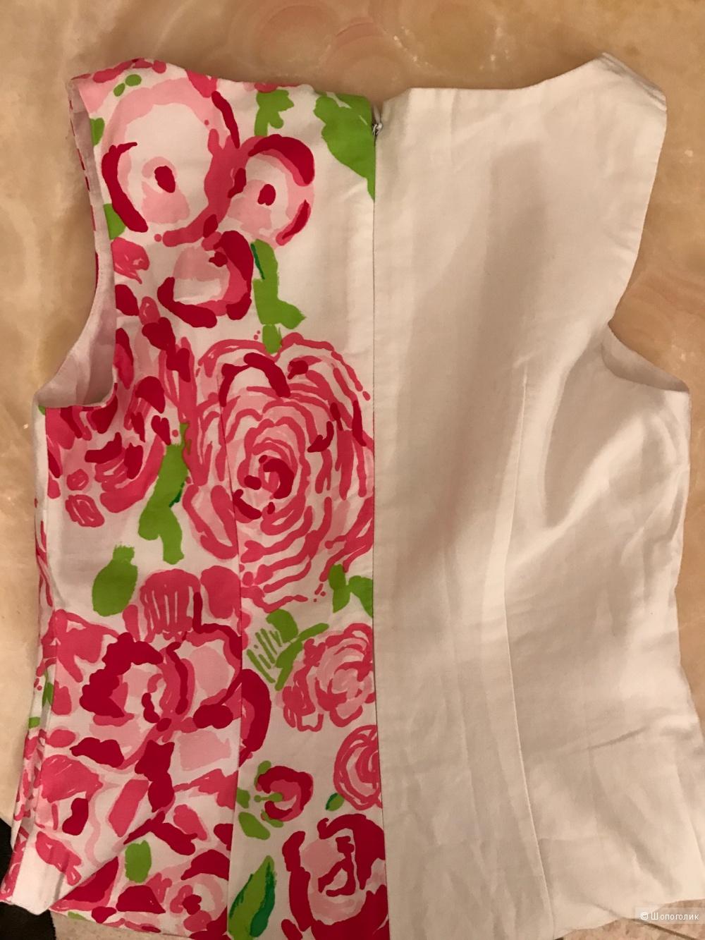 Летнее хлопковое платье Lilly Pulitzer XS(0)