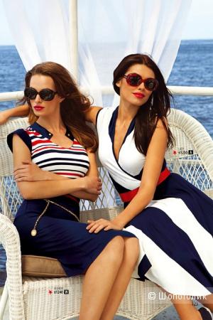 Платье в морском стиле 44 размер