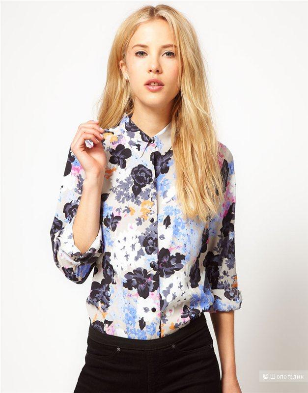 Рубашка принт цветы 34 Asos