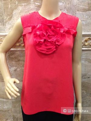 BCBG MAXAZRIA блузка с розой из шелка р.44