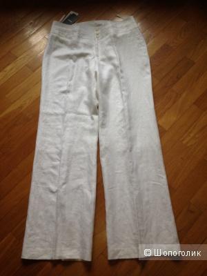 Летние льняные брюки MEXX натурального белого цвета, р.EU42 / Росс.48-50