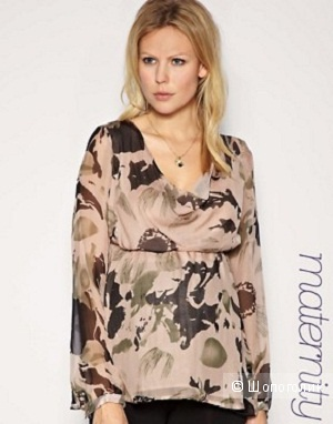 Mama·licious Enya Draped Printed Top XL
