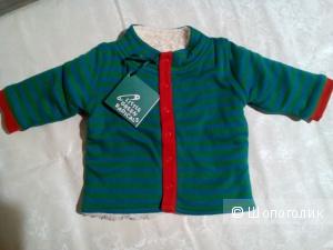 Курточка утепленная на 0-3 мес, новая, Little Green Radical