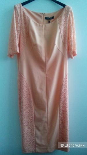 Платье Rinaschemento size plus персик цвет. Размер 50.