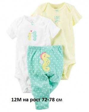 Пижама carter's новая размер 12мес