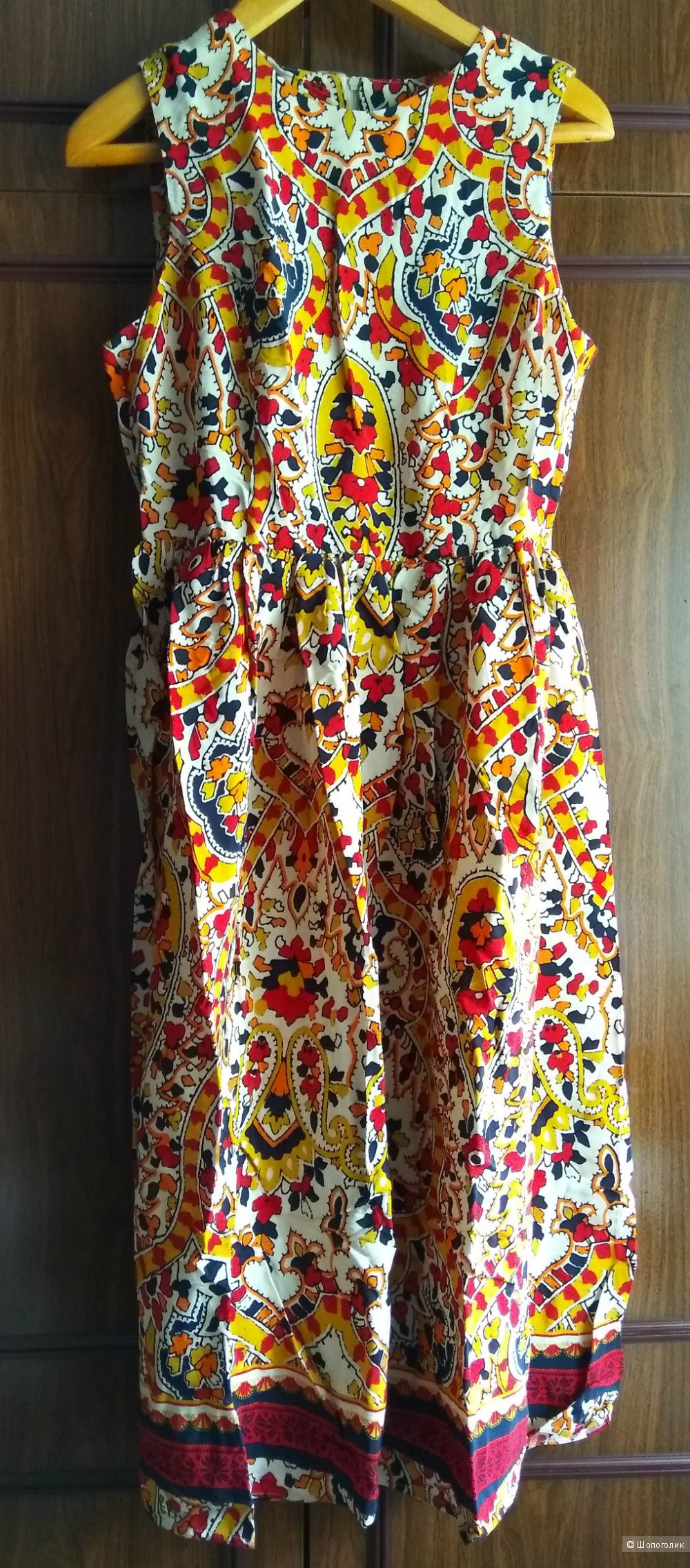 Новое вискозное летнее миди платье с каймой  Асос р.14UK (48)