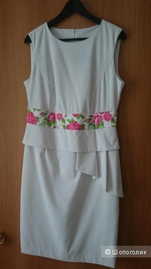 Платье белое 46-48