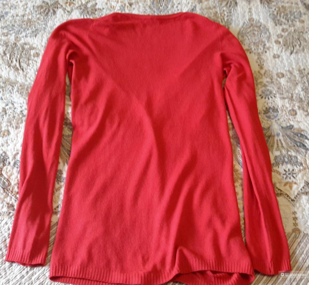Красивый красный кардиган Benetton размер М (лучше до 44)