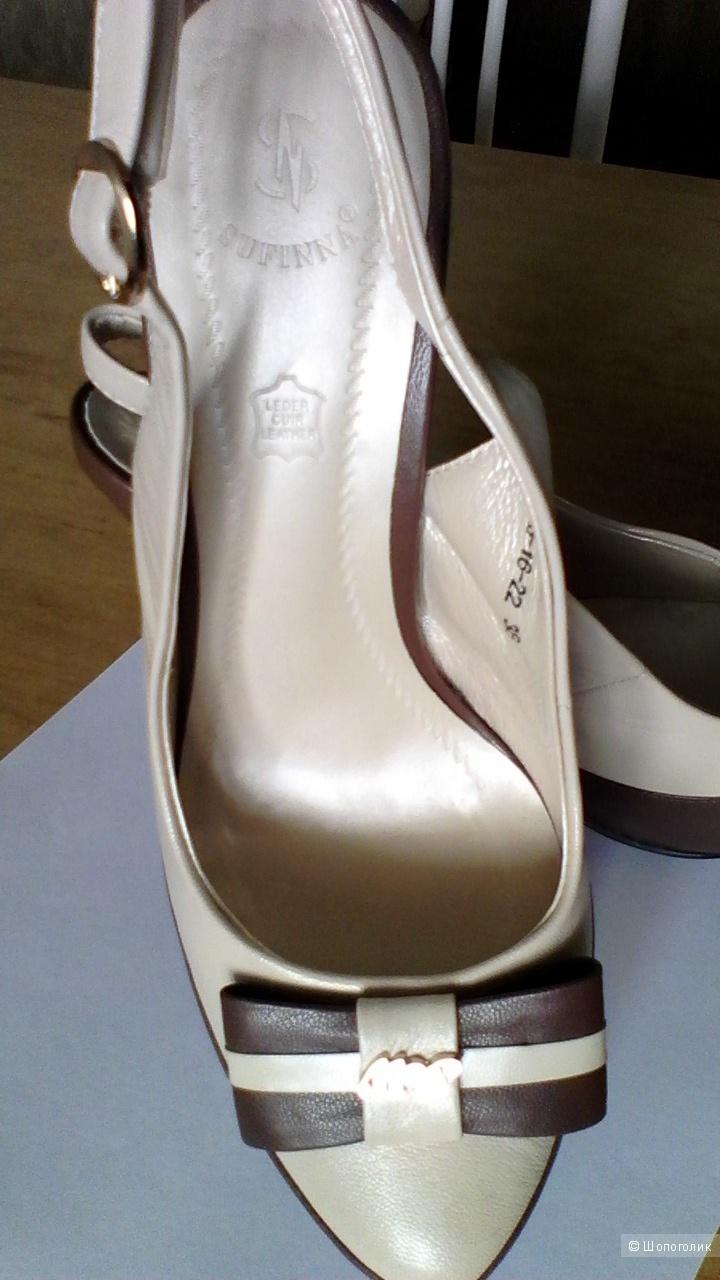 Босоножки р.38 кожа платфрма высокий каблук новые SUFINNA
