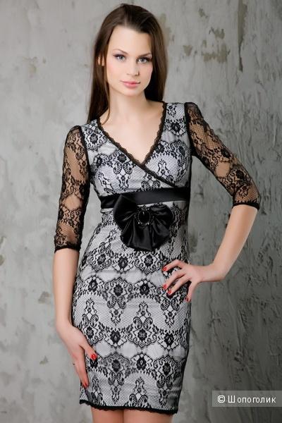 Очень красивое коктельное платье  Ally's c кружевом  42 размера, S.