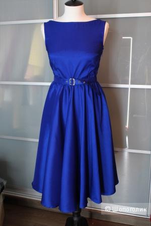 Платье цвета ультрамарин р-р 36 (42-44)