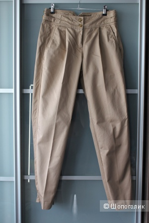 Хлопковые брюки-бананы French Connection р-р 36 (42-44)