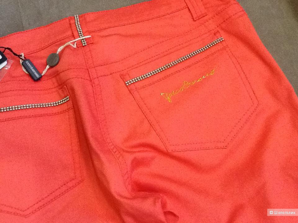Хлопковые новые брюки Roccobarocco 48-50 русский размер