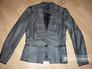 Новый жакет из джинсы с отделкой из натуральной кожи G-STAR RAW, Нидерланды, р. 44-46