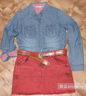 Джинсовая рубашка,бренд New Look размер 42-44