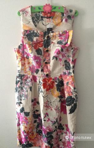 Летнее платье atmosphere из хлопка и льна, размер 8 англ.