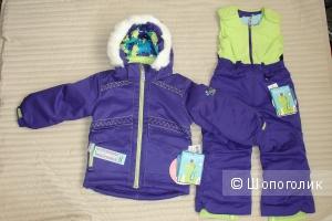 Новый зимний комплект куртка + полукомбинезон на 3-4 года