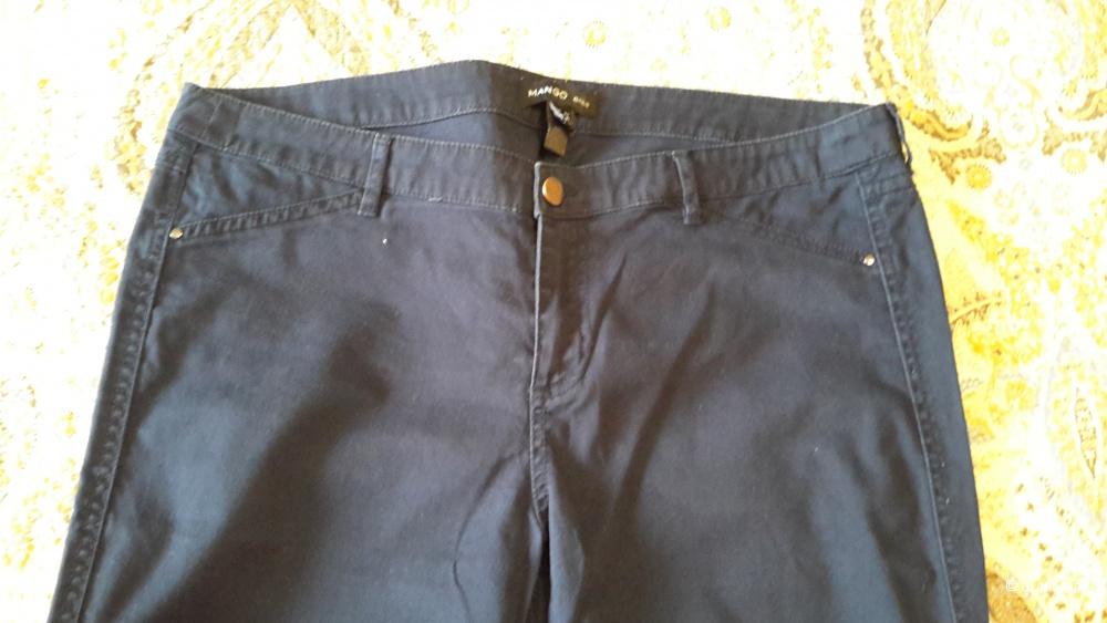 Mango женские зауженные брюки синего цвета размер 42-44EU на наш 48-50