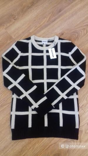 Стильный свитер в клетку от American Retro, из 100% шерсти мериноса, размер 46-48
