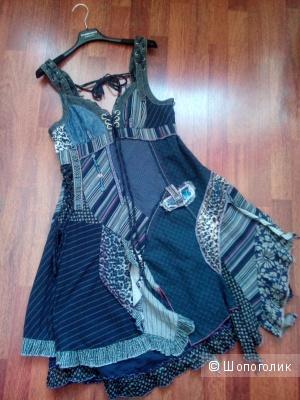 Платье-сарафан в бохо стиле размер 44-46
