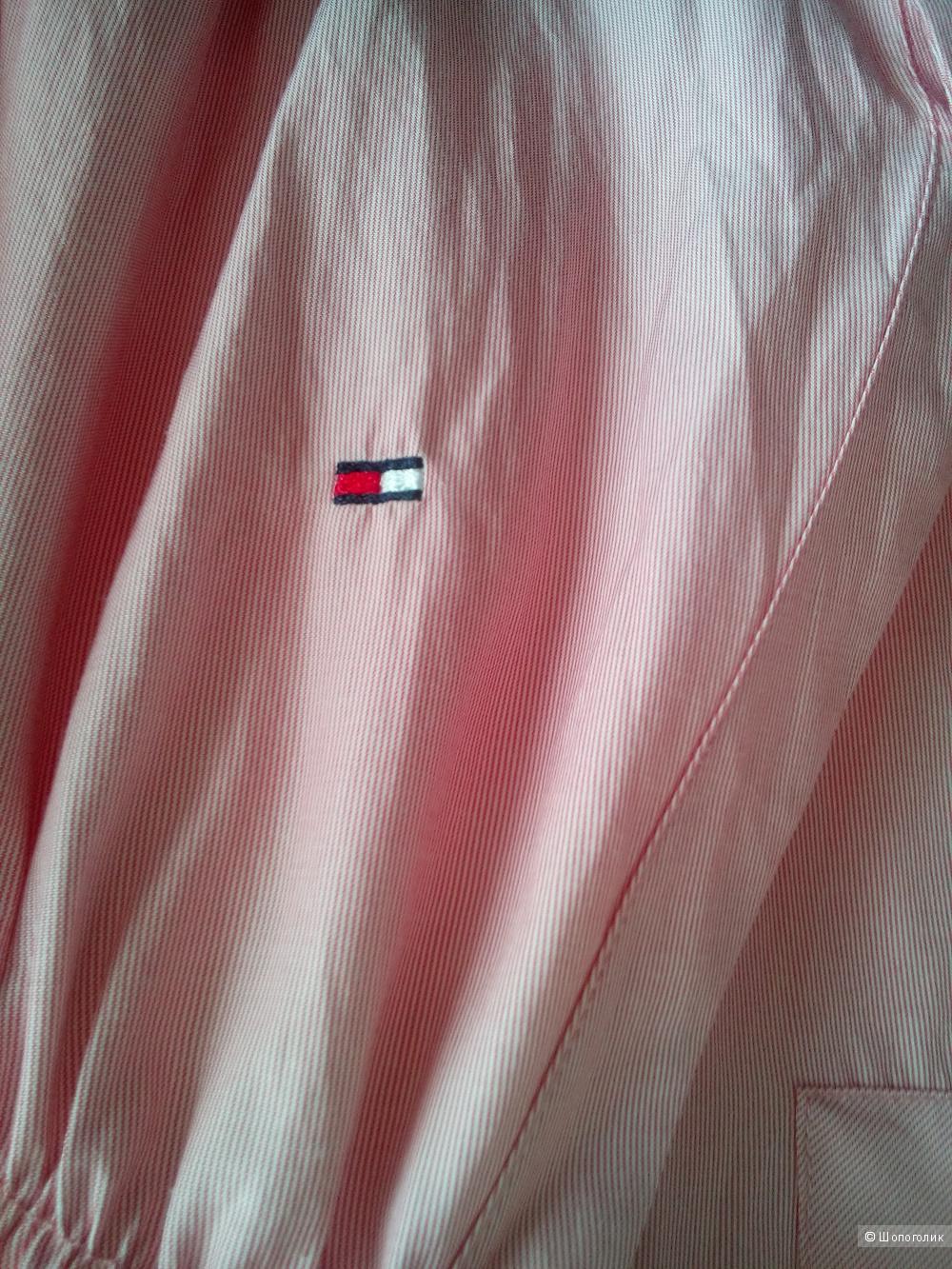 Платье розовое в мелкую продольную полосочкуTOMY HILFIGER в размере M 44-46