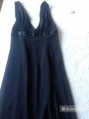 Шелковое черное платье 44 EXTE Италия оригинал