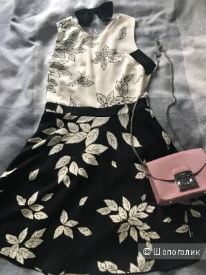 Черно-белое платье ZARA