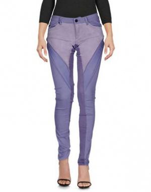 Новые брюки со вставками из натуральной замши SUPERFINE размер 26