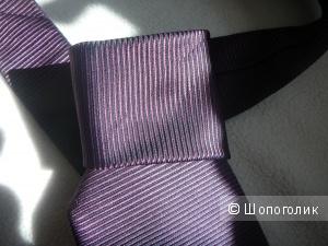 Новый галстук лавандового цвета 100% шелк