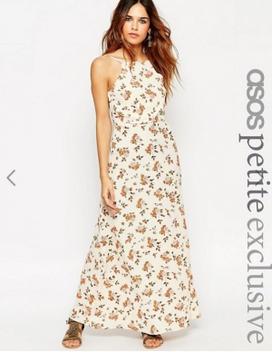 Платье макси с открытой спиной ASOS Petite размер UK8 (40 рос)