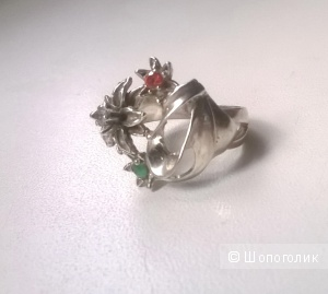 Кольцо серебро 925 пробы 16,5-17 размер