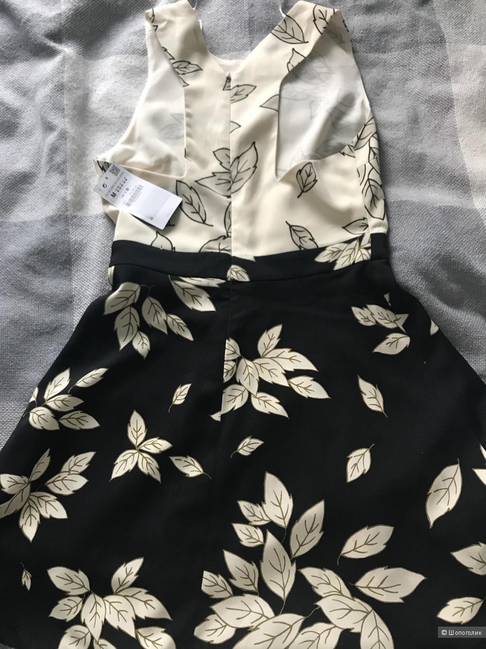 Платья зара черно-белое
