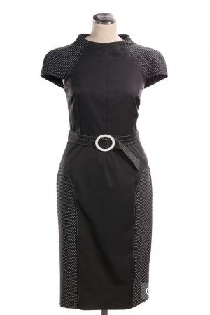 Платье офисное чёрное Modart 44-46 р