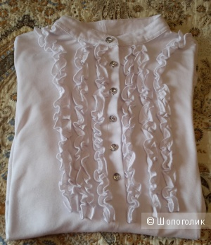 Трикотажная блузка Zolla размер М на 46-48 белого цвета