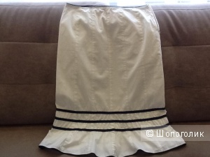 Белая юбка в морском стиле 40-42