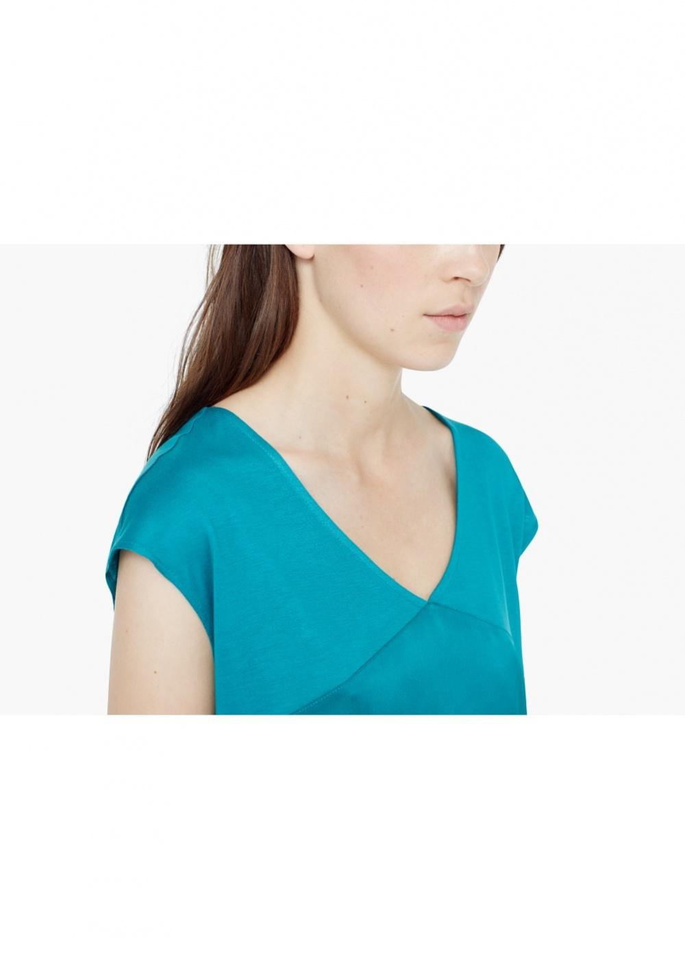 Футболка MANGO цвет зеленый бильярдного сукна размер M