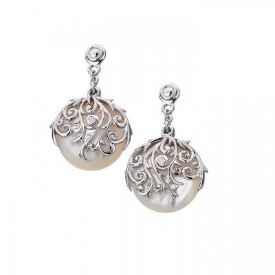 Серебряные серьги Hot Diamonds с бриллиантами и перламутром