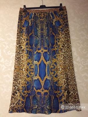 Шелковая юбка в пол, индпошив, 50rus