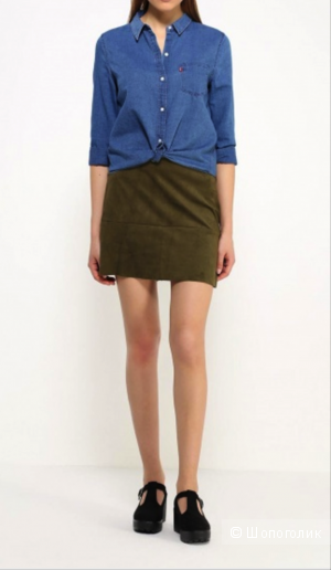 Мини-юбка цвета хаки Jennyfer, размер XS (40/42)