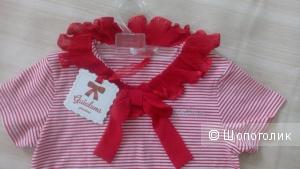 Гламурная футболка Gaialuna Италия 128-132 рост
