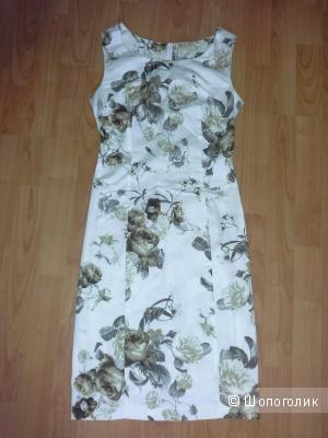 Костюм: платье+пиджак, Oodji,  размер платья 38/170,  пиджак 38/164
