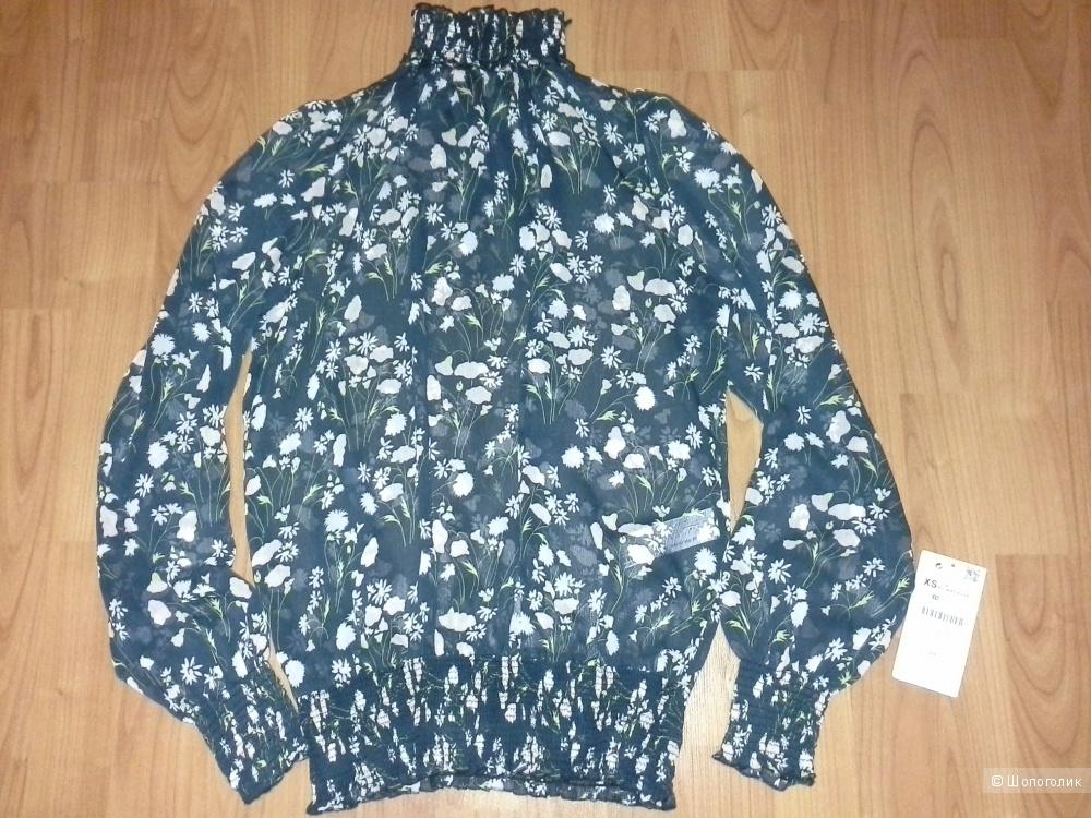 Блузка с цветочным принтом,  Zara, размер XS, S