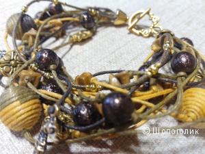 Очень красивый браслет с яшмой от CRAZY CRYSTAL.