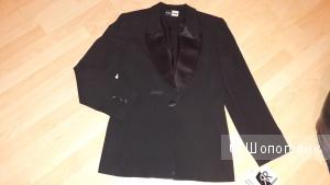 Пиджак - смокинг американского дизайнера RINA ROSSI, амр.размер 12, на наш 46-48 (новый), 100 % шерсть