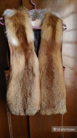 Меховая жилетка, размер 44-46